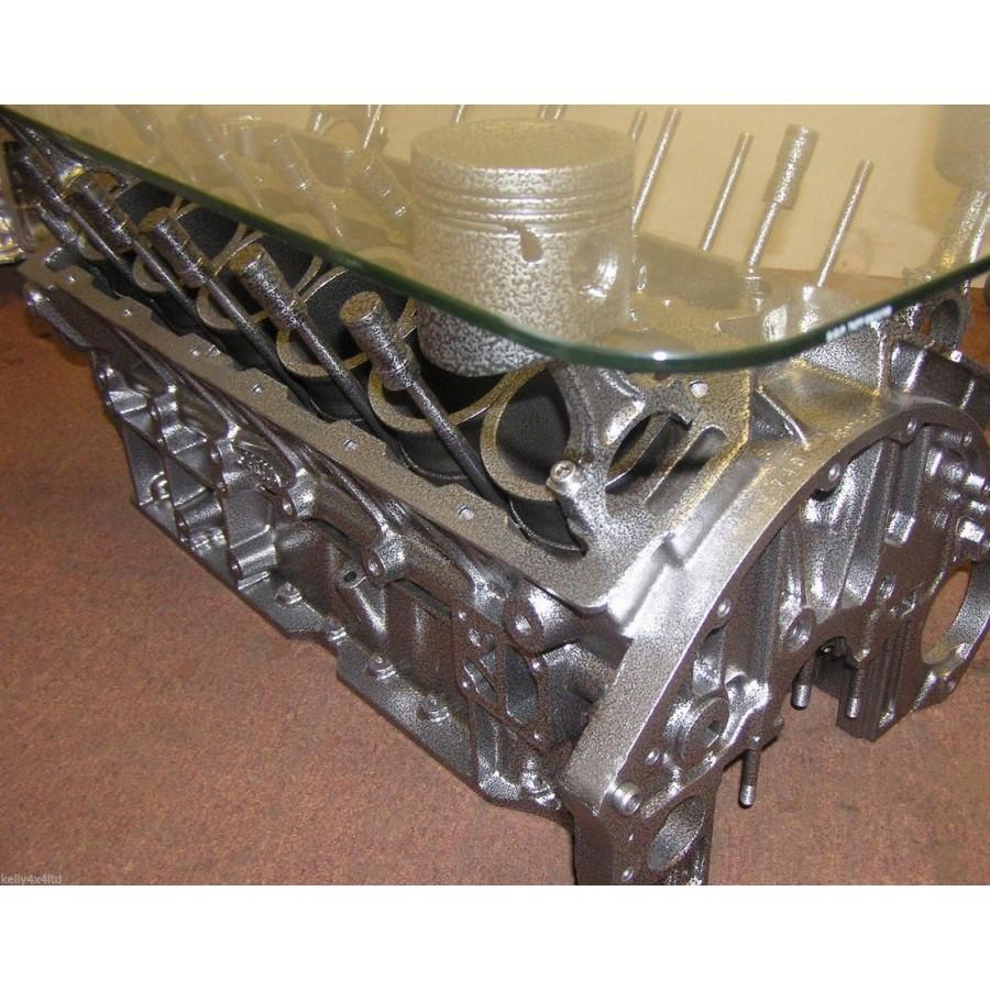 Beistelltisch Couchtisch Tisch V12 Motorblock Jaguar