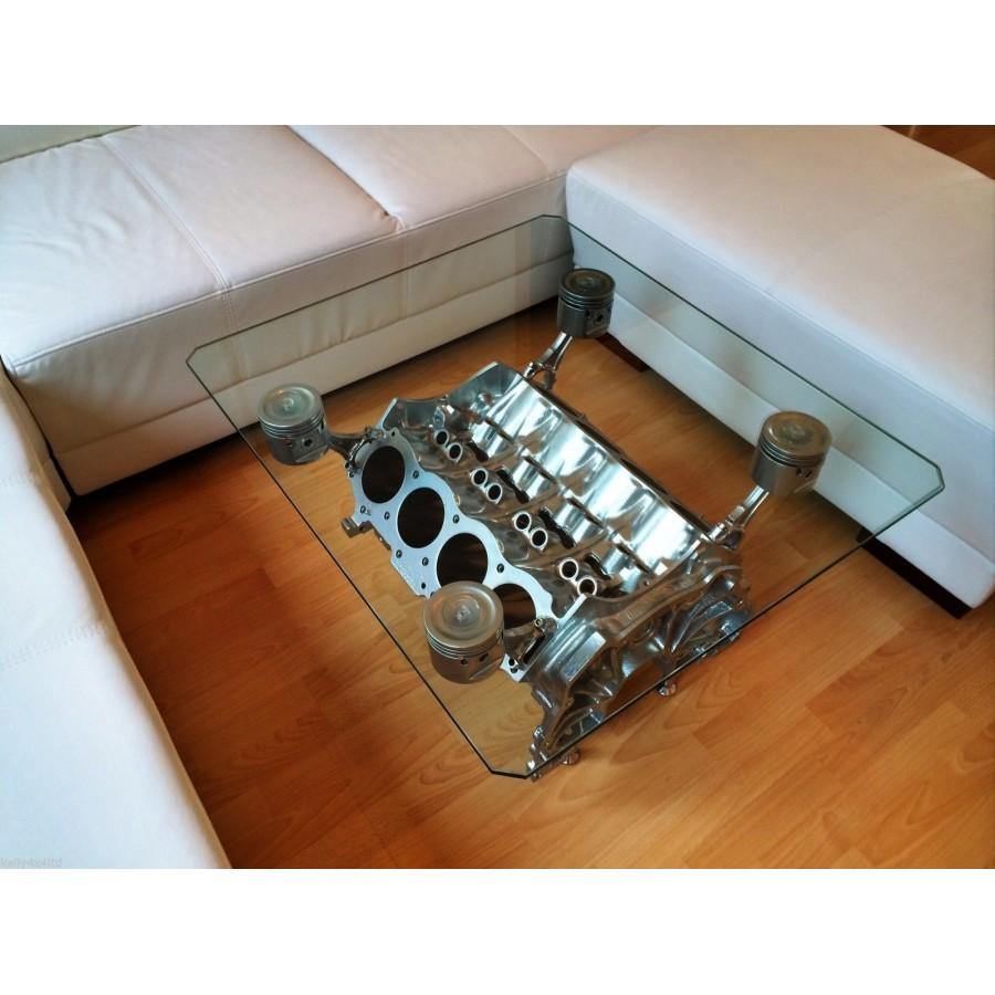 beistelltisch couchtisch tisch v8 motorblock. Black Bedroom Furniture Sets. Home Design Ideas