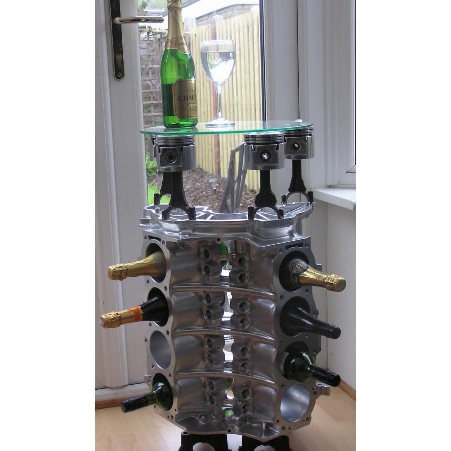 Weinregal Beistelltisch Couchtisch Tisch V8 Motorblock